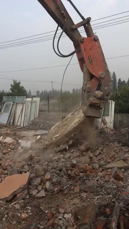 Hydraulic concrete pulverizer for excavator excavator pulverizer attachments