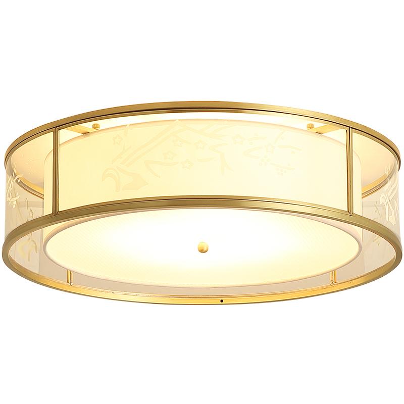 月影新中式圆形客厅全铜新款吸顶灯质量怎么样