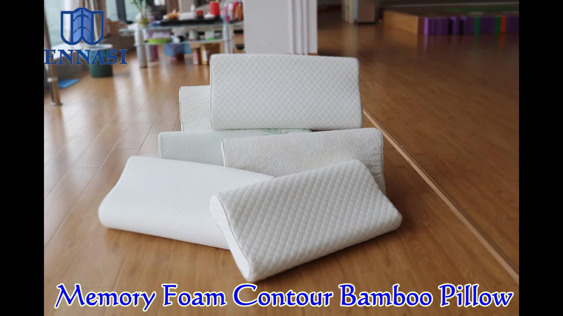 아마존 편안한 인체 공학적 컨투어 메모리 폼 슬리퍼 침대 베개