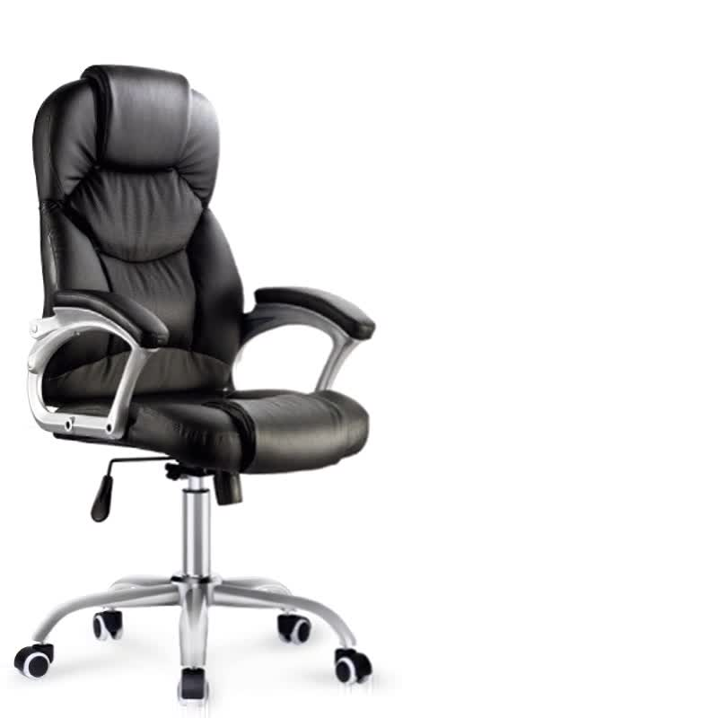 Online sales synthetic leather office chair fancy black pu leather office chair