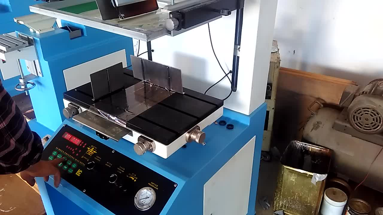 Hot sale pneumatic card printing Plane silk screen printing machine for bag paper