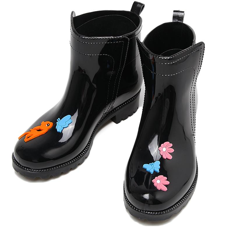 女士可爱中筒短筒防水防滑成人胶鞋质量好不好