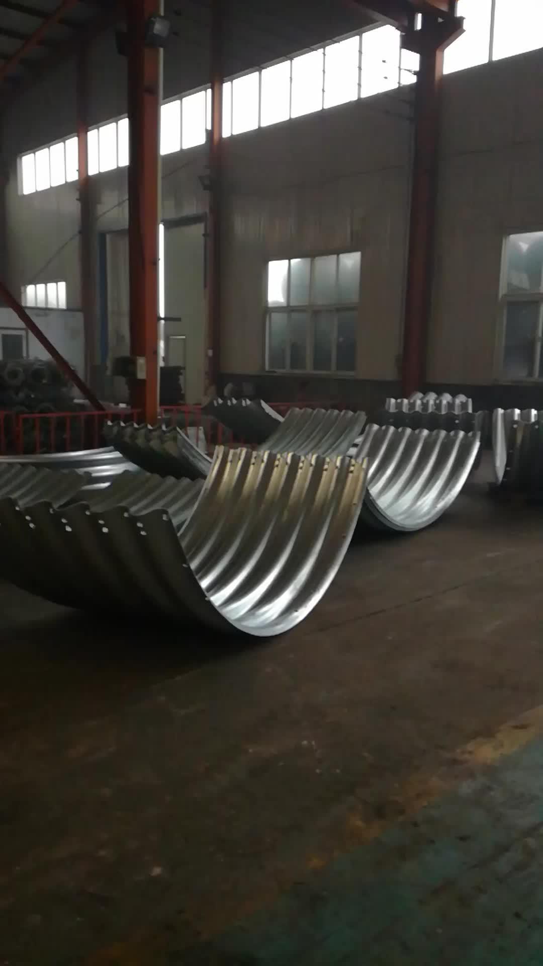 Big corrugation large diameter corrugated steel pipe