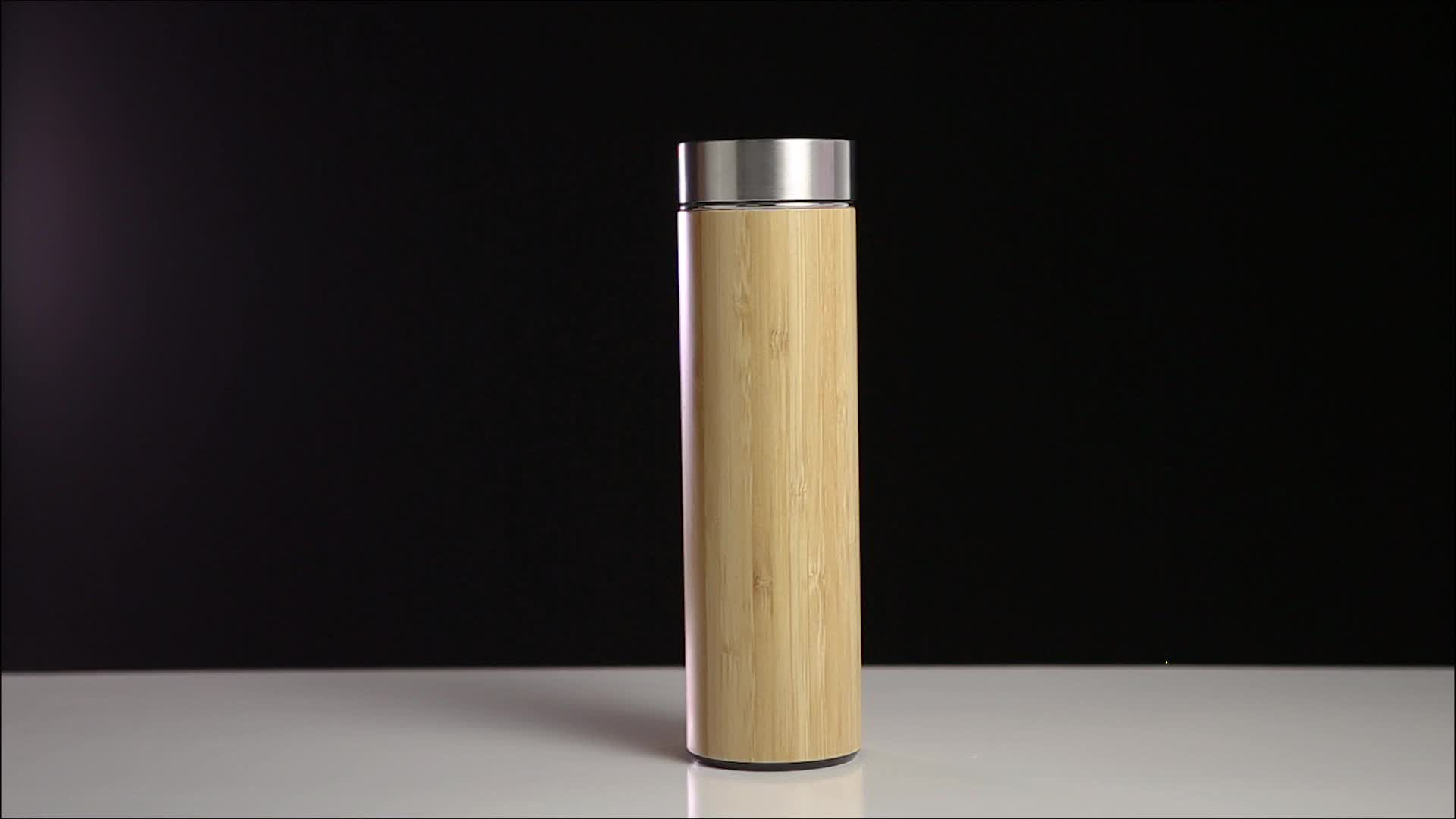 Bamboo Thermal Bottles For Water Stainless Steel Thermos