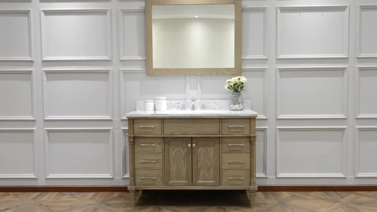 60 Inch Floor Mounted Solid Wood Kitchen And Bath Cabinet