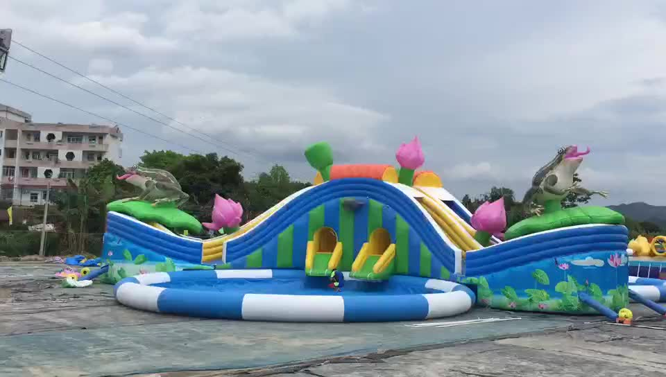 Large Outdoor Backyard Mobile Adult Kids Water Amusement Park Inflatable Water Park