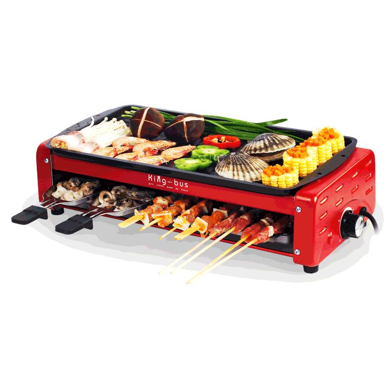 比亞雙層電燒烤爐家用烤爐無煙燒烤架韓式電烤盤多功能電烤肉機鍋