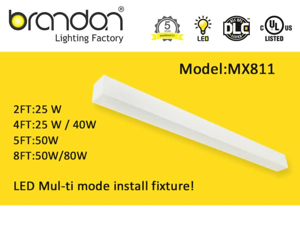 Office led ceiling light direct/indirect led linear suspended lighting fixture