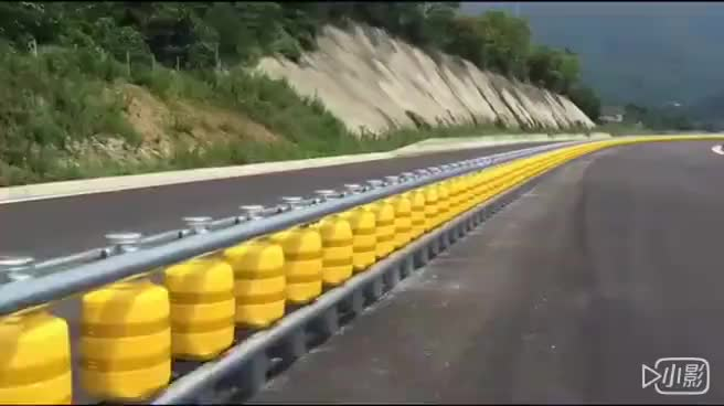 Highway curved ramp safety roller barrier system to india