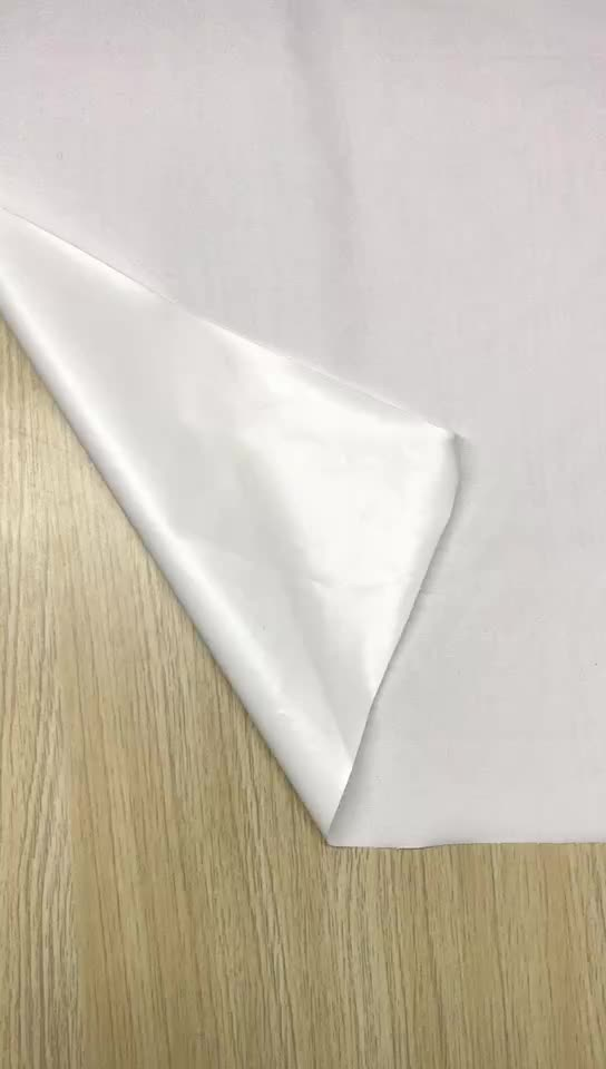 Chinese Supplier Brushed Microfiber Pongee Waterproof Laminated Fabric