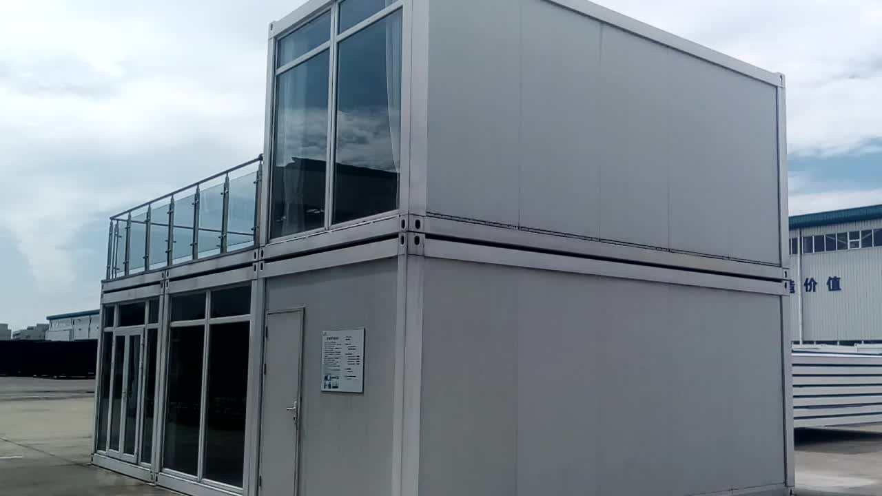 China manufacturer flatpack container with prefab house