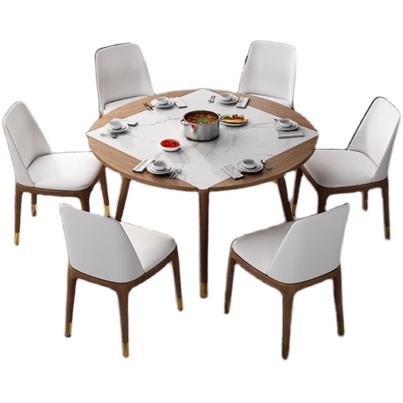 岩板可变伸缩折叠简约现代家用餐桌质量好不好