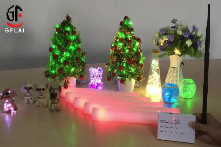 Wholesale Customized LOGO Remote Control LED Foam Stick Glow In The Dark