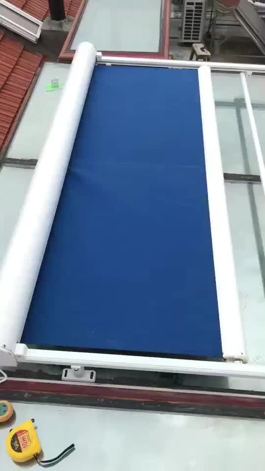 Electric Retractable Skylight Awning Remote Control Arc