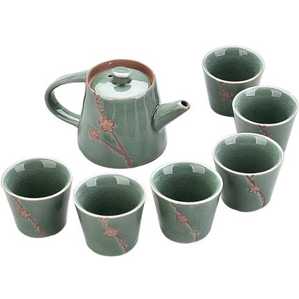 陶瓷茶具套装功夫茶具整套冰裂茶盘
