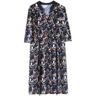 妙采妈妈连衣裙夏时尚妈妈裙子夏中年女减龄夏装40一50岁连衣裙薄