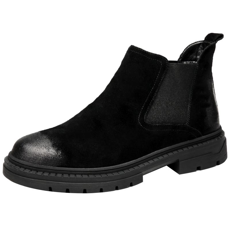 男鞋秋季潮鞋百搭高帮马丁靴男透气短靴透气棉鞋英伦风切尔西靴子