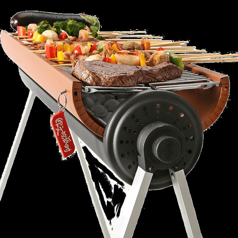 欧文的派对户外烧烤炉BBQ烧烤架家用5人以上便携全套木炭烤肉工具
