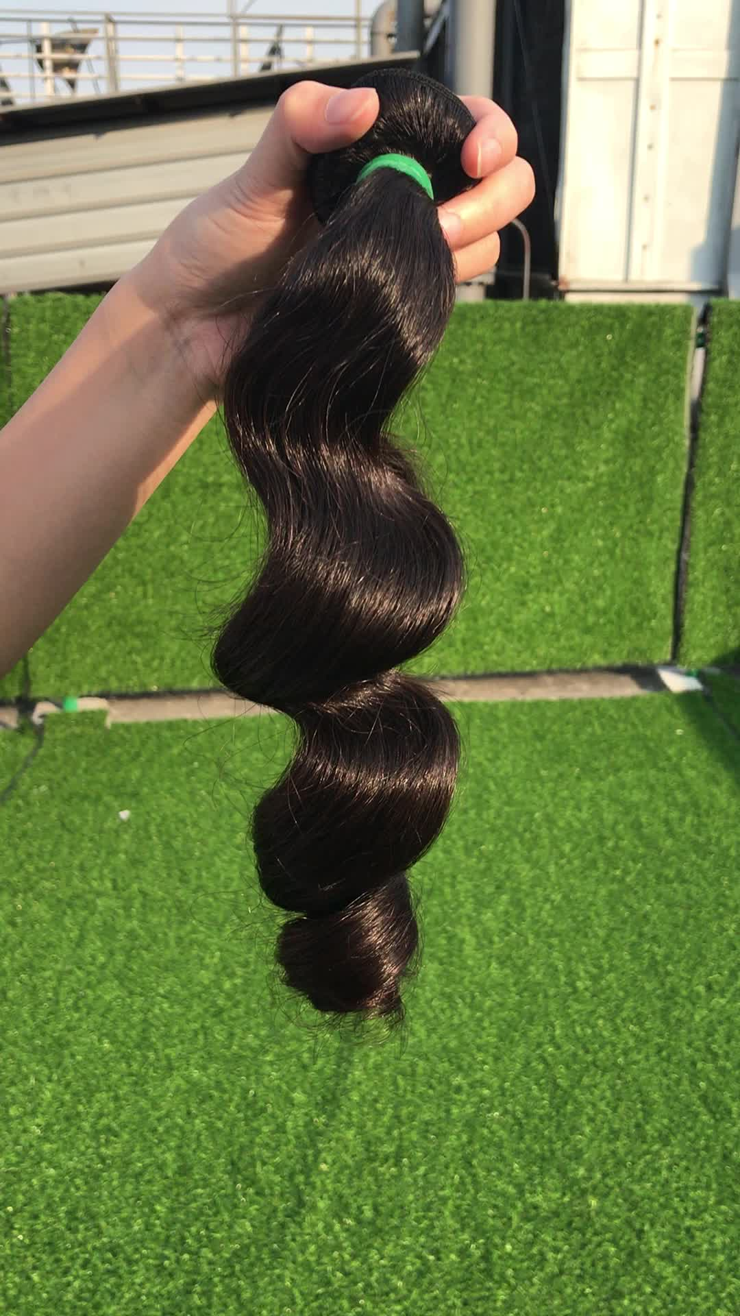 XBL Brazilian loose wave, tangle free wholesale virgin Brazilian human hair