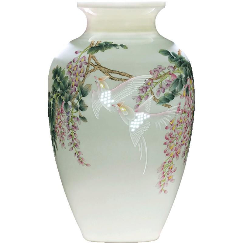 景德镇插花手绘中式家居陶瓷花瓶质量怎么样