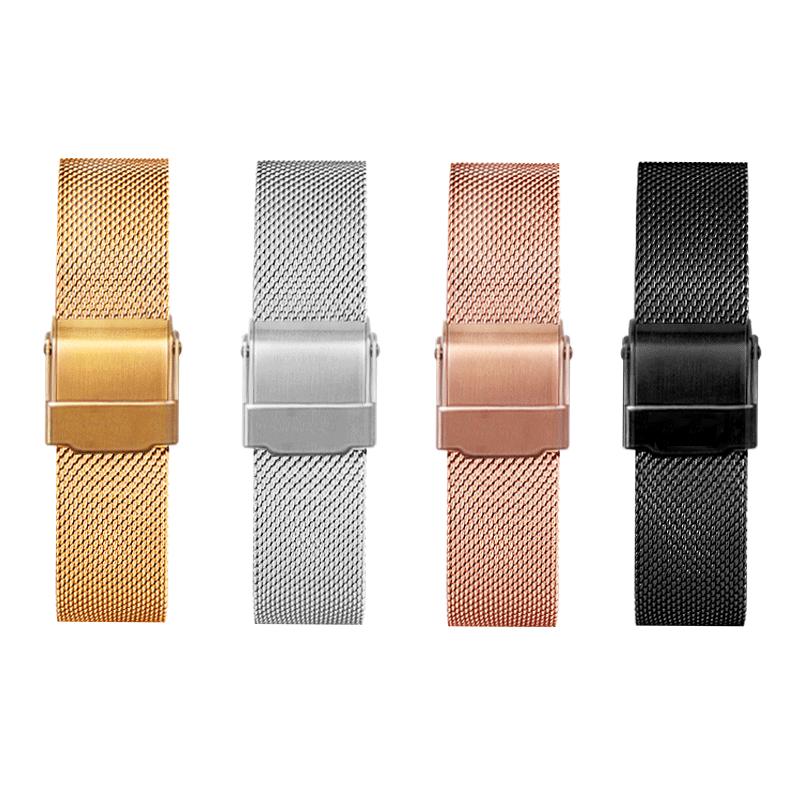 拉菲娜代用dw手表带丹尼尔惠灵顿男女钢带不锈钢金属精钢通用手链