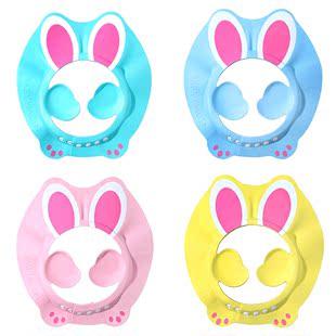 宝宝洗头帽小孩子洗澡洗发帽浴帽防水帽儿童防水兔子硅胶护耳神器