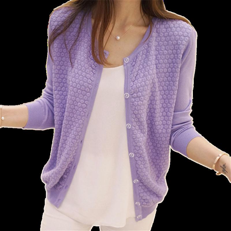2019春装新款修身外搭女装针织披肩小外套短款薄空调开衫洋气超仙