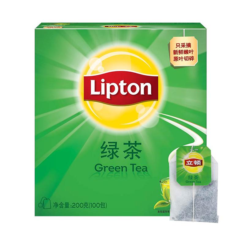 【拍两件】立顿绿茶茶包400G