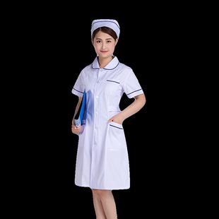 护士服长袖女冬装粉色白大褂