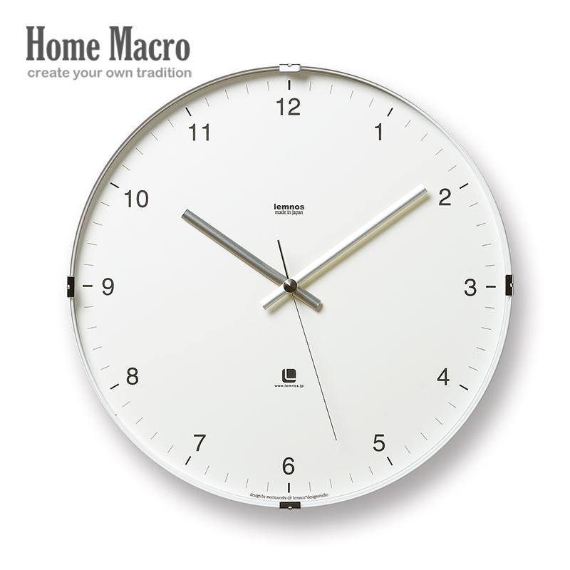 现货/日本Lemnos/North挂钟/原装进口静音时钟客厅简约现代风钟表