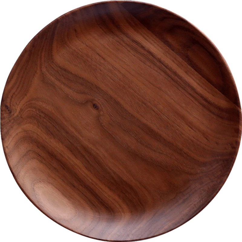 川岛屋日式黑胡桃木盘子原木餐盘好不好用