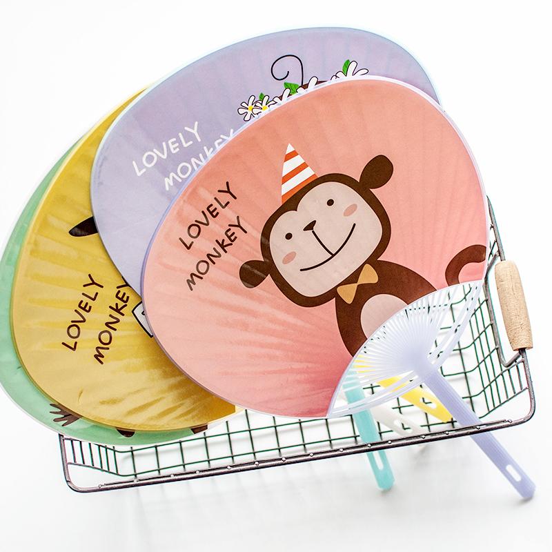 韩版创意卡通小扇子包邮夏季学生儿童可爱迷你随身便携塑料手摇扇