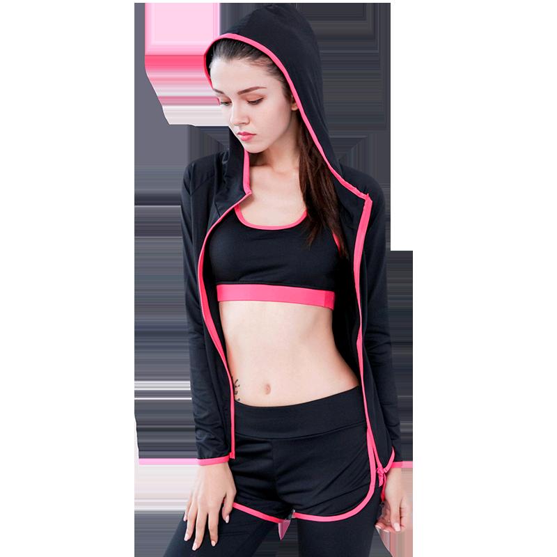 瑜伽服运动套装女2018秋冬季新款速干透气专业健身房跑步服户外