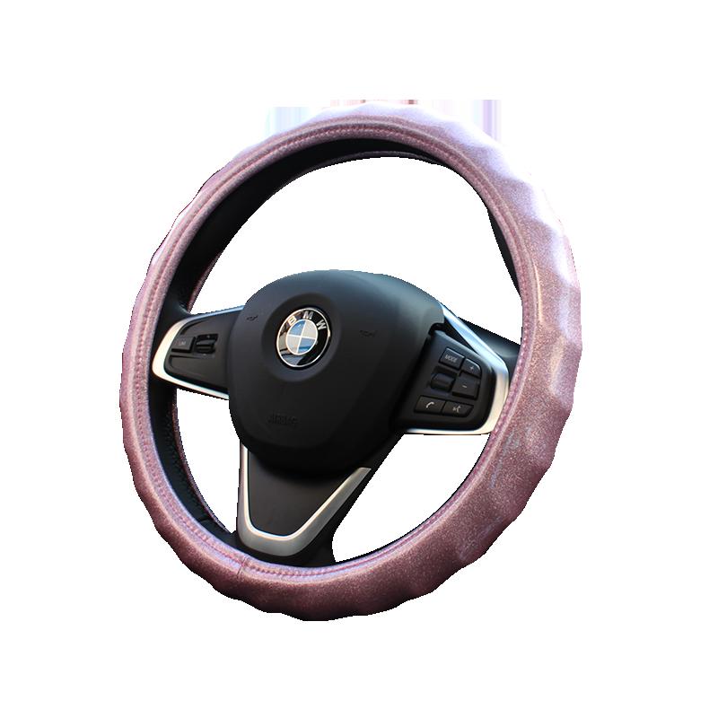 汽車方向盤套韓國可愛熒光波浪四季通用奔馳奧迪寶馬大眾車把套女