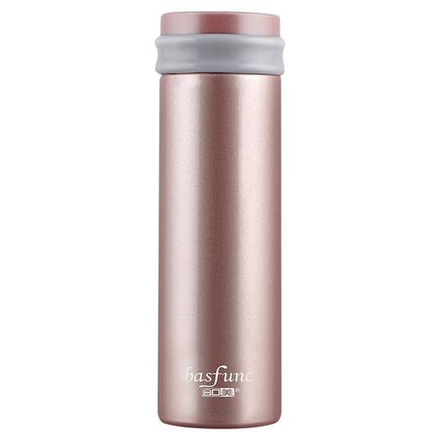 合口美法国设计不锈钢保温杯便携迷你水杯子简约直身杯高档真空杯