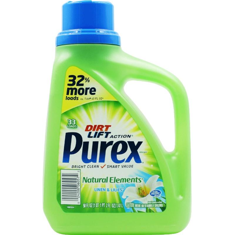 美国purex天然洗衣液男女士生态防过敏手洗怀孕妇期内衣内裤专用
