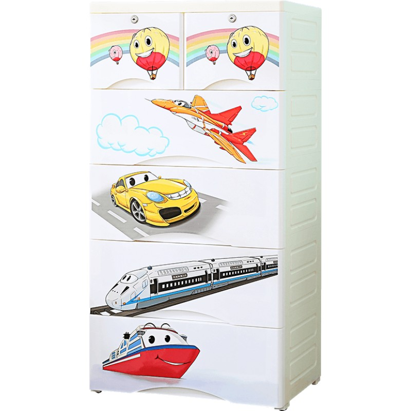 抽屉式收纳柜子多层宝宝婴儿童储物柜衣柜玩具五斗柜子整理箱塑料