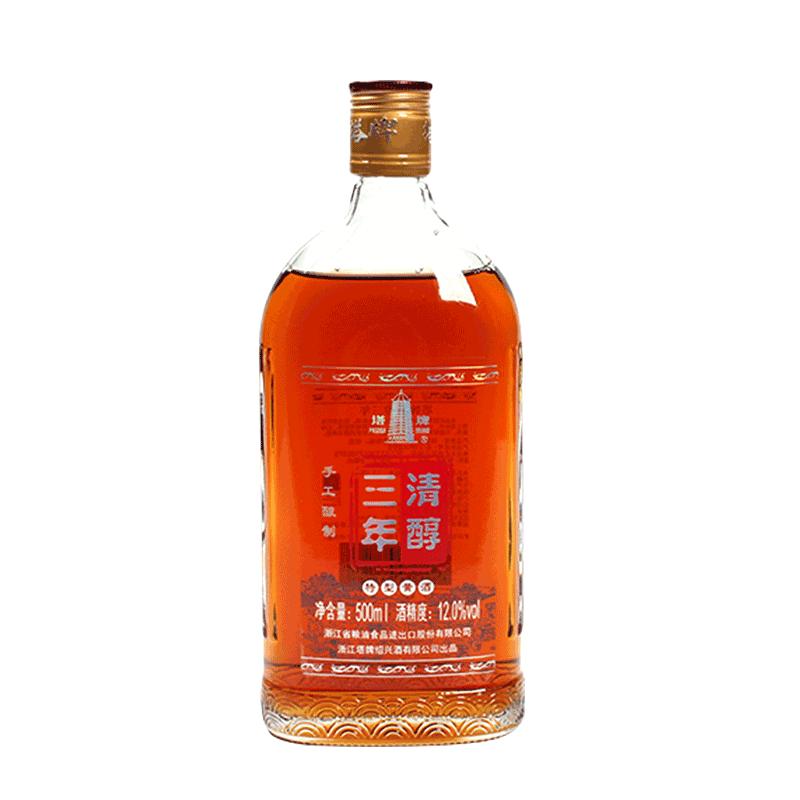 塔牌黄酒半干型三年清醇500ml花雕