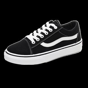 秋季新款小黑帆布韩版学生布鞋女鞋