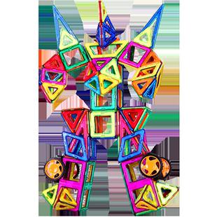 小霸龙百变提拉磁力片散片儿童积木