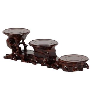 紅木雕刻奇石根雕底座 實木質紫砂壺花瓶花盆工藝品擺件木頭托架