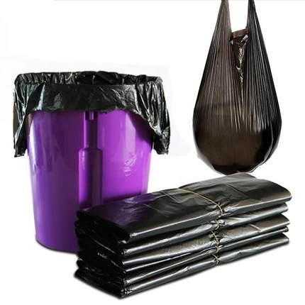 家用中号100只手提式背心袋垃圾袋