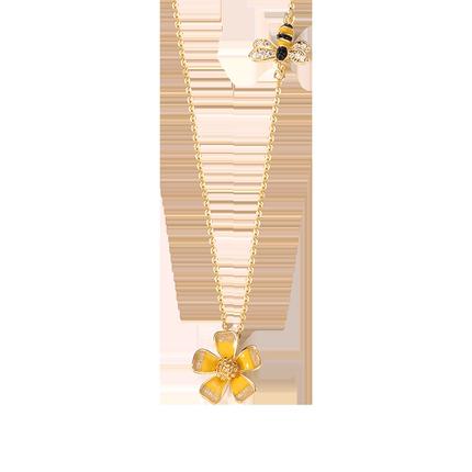 蜜蜂女短款花朵颈带网红清新锁骨链