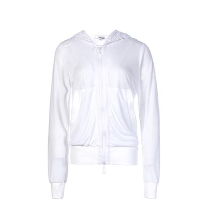 后构想设计师款原创白色冰丝防晒衣