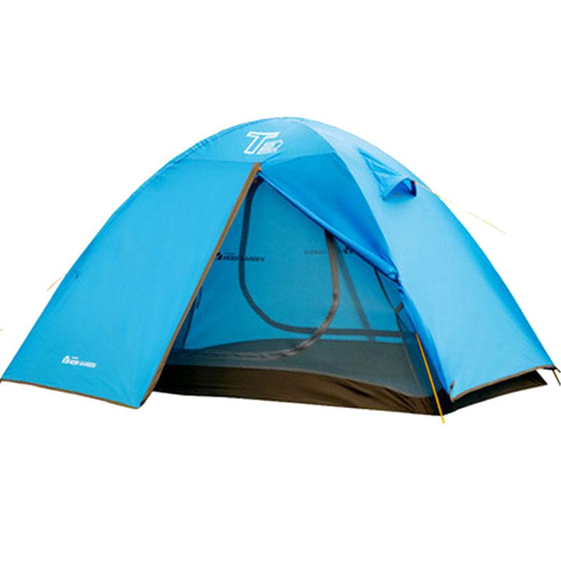 牧高笛铝杆户外登山双人三人双层防风雨T2T3防蚊野外露营手搭帐篷