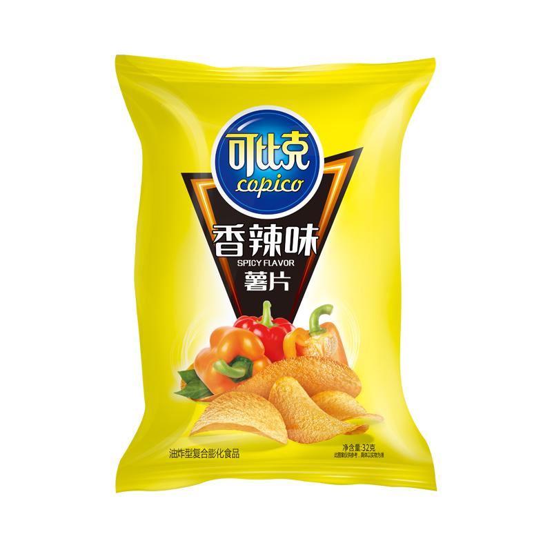 可比克袋装薯片香辣味32g/包食品零食小吃脆薯片凑单脆片网红