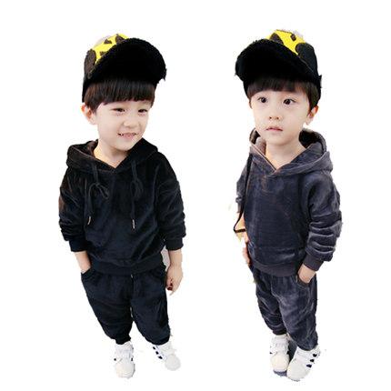 童装男童秋冬套装加绒0-1-2-3卫衣
