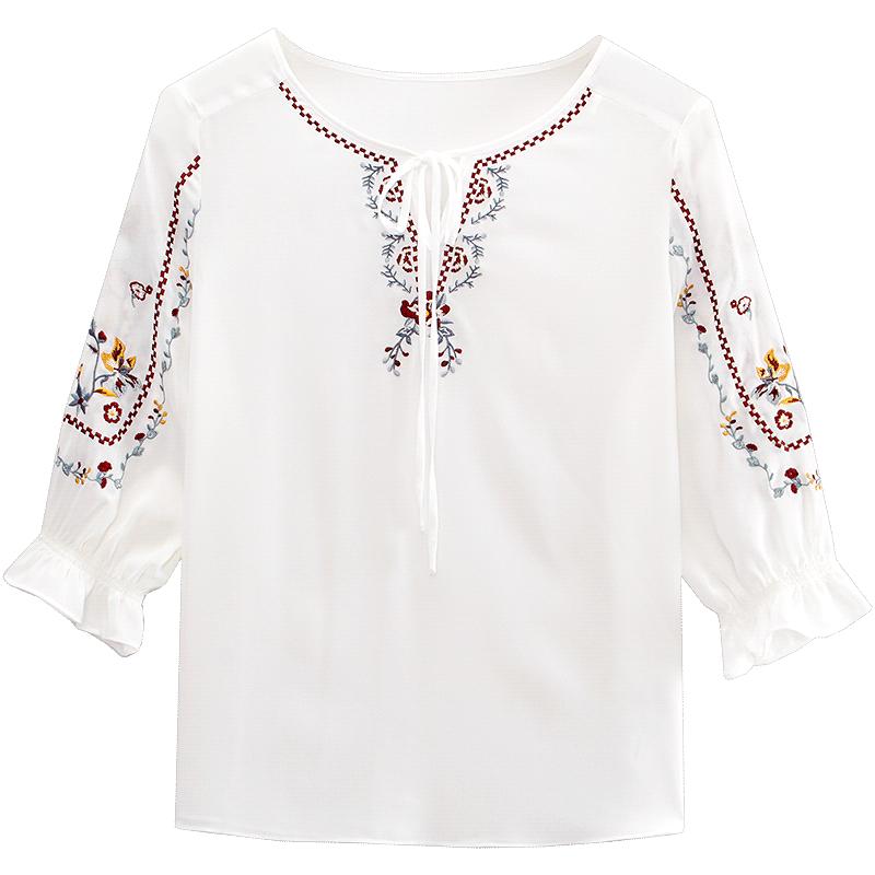爱居兔2019夏季女装一款两色中袖