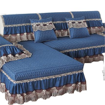 四季防滑沙发垫欧式布艺罩靠背巾