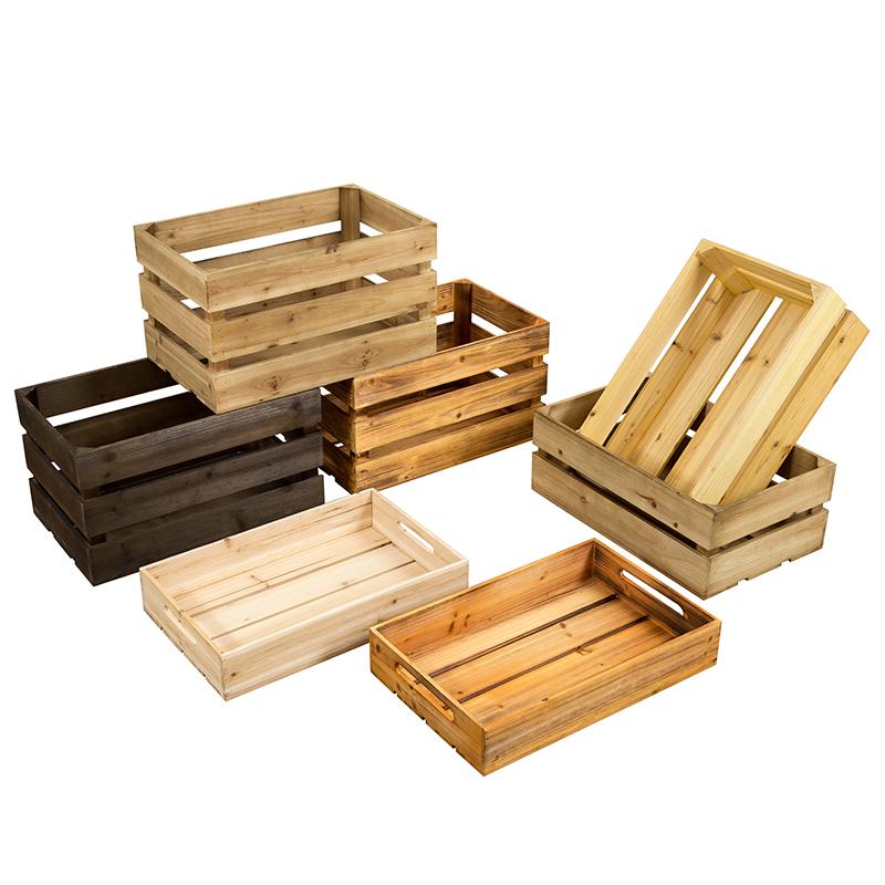 复古木箱储物箱定制实木收纳箱橱窗装饰摆件道具超市陈列小木箱子